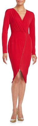 Rachel Rachel Roy Asymmetrical Zip Sheath Dress $119 thestylecure.com
