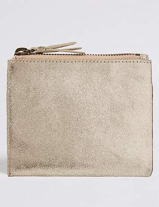 M&S Collection Suede Fold Over Purse