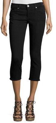 True Religion Casey Low-Rise Capri Jeans, Black $179 thestylecure.com