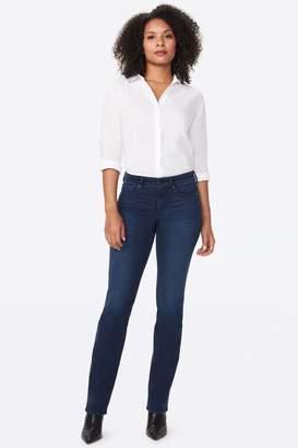 NYDJ Womens Blue Marilyn Straight Leg Denim Jeans - Blue