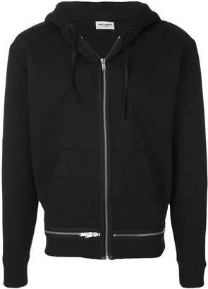 Saint Laurent zipped hooded sweatshirt
