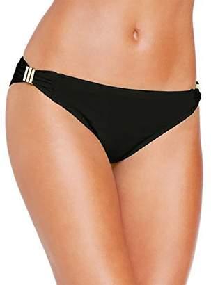 Bar III Women's Solid Hardware Hipster Bikini Bottom (M, )