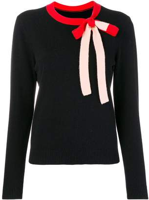 Parker Chinti & contrasting bow tie sweater