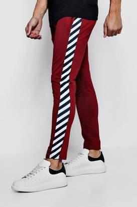 boohoo Side Stripe Tricot Joggers