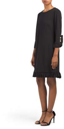 Pearl Cuff Ruffle Dress