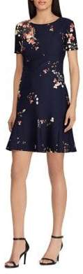 Lauren Ralph Lauren Petite Floral-Print Crepe Dress