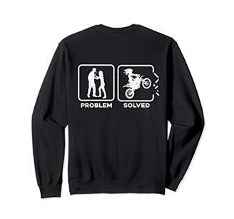 Problem Solved Funny Divorced Ex Wife Motorcycle Sweatshirt