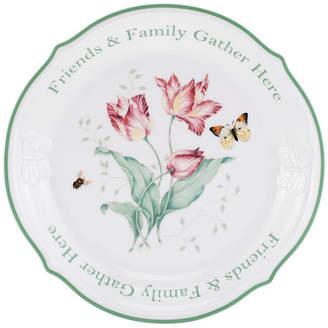 "Lenox Butterfly Meadow Friends & Family Gather Here Dessert Platter, 12"""
