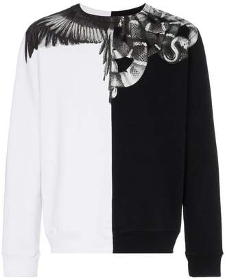 Marcelo Burlon County of Milan Wings and Snakes crewneck sweater