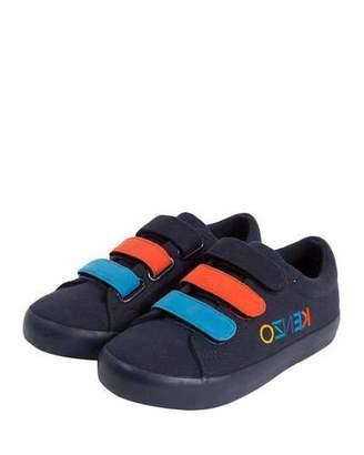 Kenzo Colorblock Logo-Sides Sneakers, Toddler/Kids