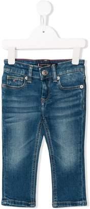Tommy Hilfiger Junior stonewashed slim-fit jeans