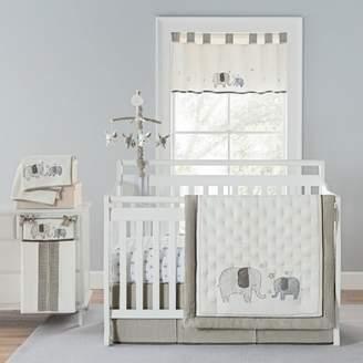 Greyleigh Arcola Elephant Baby Walk 4 Piece Crib Bedding Set