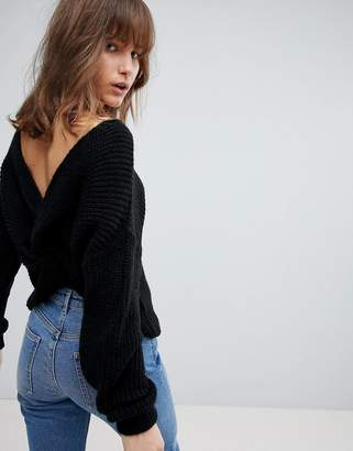 Asos DESIGN sweater with twist back