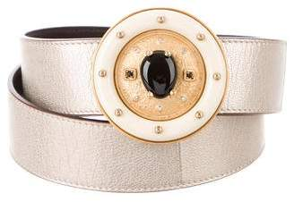 Valentino Embellished Metallic Belt