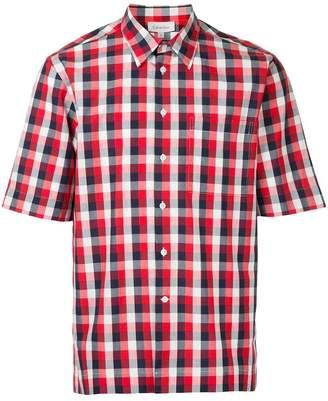 CK Calvin Klein mixed gingham short sleeve shirt