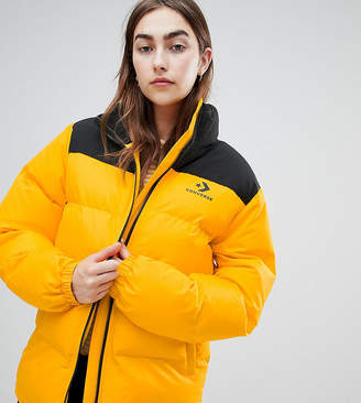 Converse Oversized Exclusive Yellow Padded Jacket