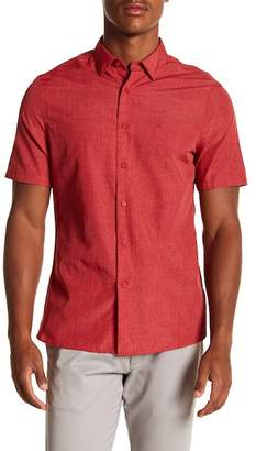 Perry Ellis End-on-End Short Sleeve Slim Fit Shirt