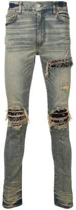 Amiri bandana detail jeans