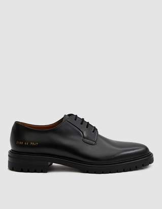 Common Projects Derby Shoe in Black Leather
