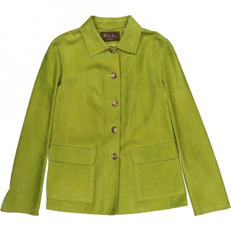Loro Piana Green Leather Jacket for Women