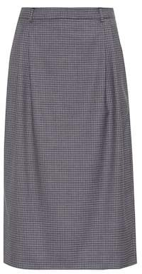 Miu Miu Plaid wool skirt