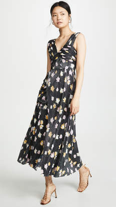 Self-Portrait Self Portrait Floral Printed Plisse Dress