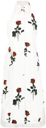 OSKLEN roses print A-line dress