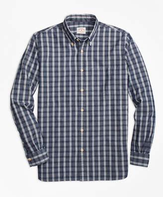 Brooks Brothers Check Chambray Sport Shirt