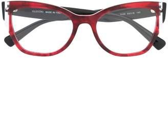 Valentino Eyewear oval shape glasses