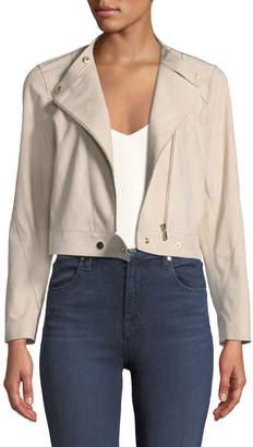 Lafayette 148 New York Lisette Sueded-Leather Moto Jacket