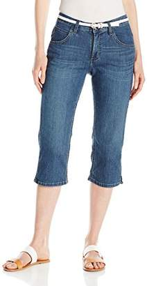 Lee Indigo Women's Classic-Fit Belted Capri Pant