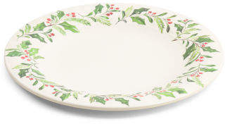 Outdoor Holly Dinner Plate