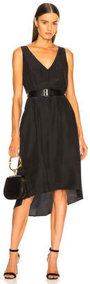 Enza Costa Double V Midi Dress