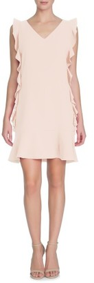 Women's Cece Harper Ruffle Woven Shift Dress $138 thestylecure.com