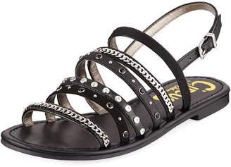 Sam Edelman Bev Strappy Embellished Sandal, Black