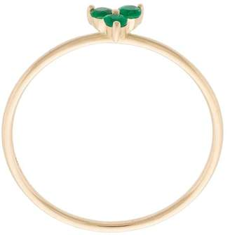 Ef Collection emerald trio stack ring