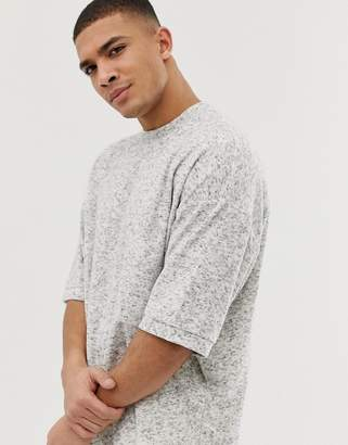 Asos DESIGN oversized t-shirt in towelling in textured gray