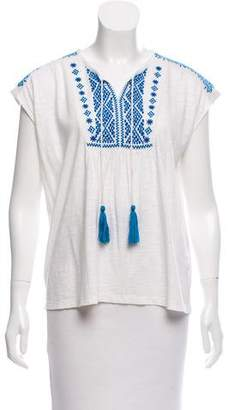 MICHAEL Michael Kors Embroidered Sleeveless Top
