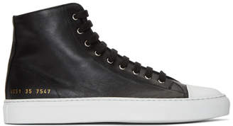 Common Projects Woman by Black and White Tournament High Cap Toe Sneakers