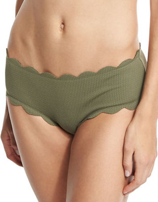 Marysia Spring Scalloped Boy-Cut Bikini Swim Bottom $150 thestylecure.com