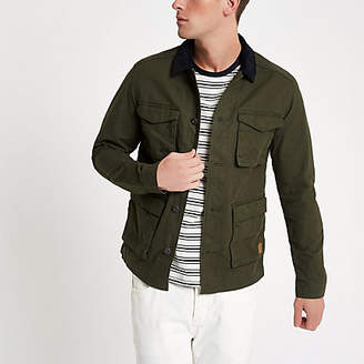 River Island Jack and Jones Originals green field jacket