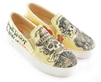 Goby Skull Printed Slip-On Platform Sneaker