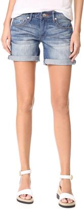 True Religion Emma Mid Rise Shorts $159 thestylecure.com