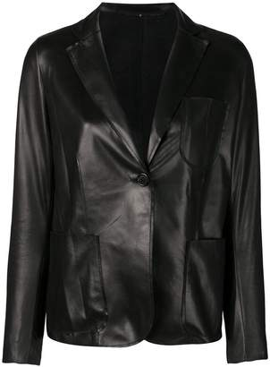 Salvatore Santoro leather structured blazer
