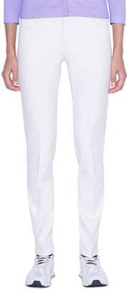 Akris Magda Slim-Leg Ankle Pants, Moonstone Ivory