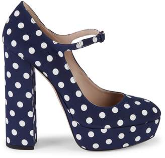 Miu Miu Polka Dot Mary Jane Platform Pumps