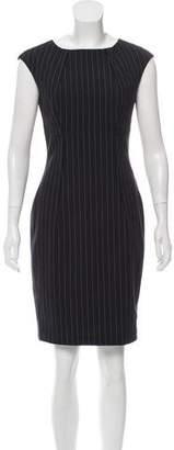 Calvin Klein Sleeveless Pinstripe Dress