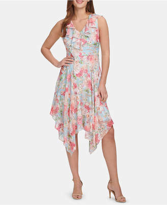 Kensie Ruffled Handkerchief-Hem Dress