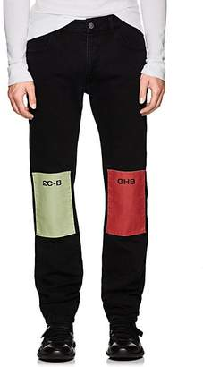 Raf Simons Men's Drug-Patch Slim Jeans - Black