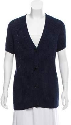 Lafayette 148 Linen Short Sleeve Cardigan